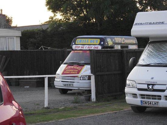 Buttyland Touring Caravan & Tent Park: the ice cream van