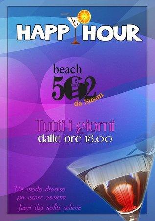 Pizzeria 502 Bistrot: Happy Hour al 502 Beach - Tutti i giorni alle ore 18.00