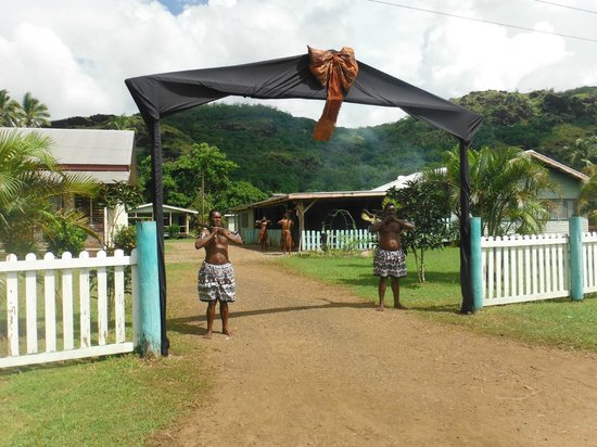 Nukubati Private Island : Guards in front of Chief's Home