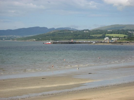Scenic Lough Foyle Ferry: Buncrana Pier, from a distance