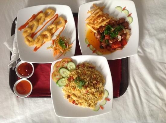 Alagon Saigon Hotel & Spa : our room service order , yummy