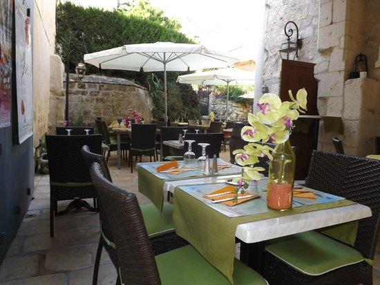 Cote Jardin: terrasse du restaurant