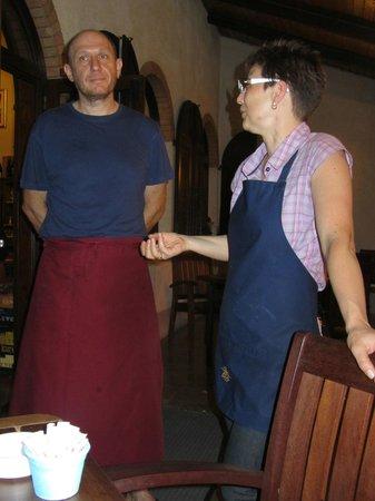 Trattoria La Campagnola : Albert + Erika/ ganz tolle Gastgeber/er kocht und sie empfiehlt....