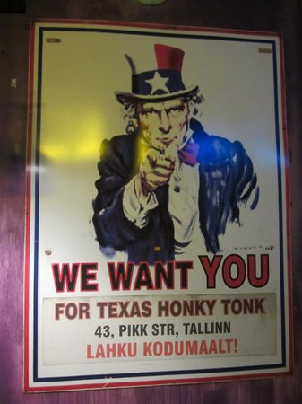 Texas Honky Tonk & Cantina: one of the poster