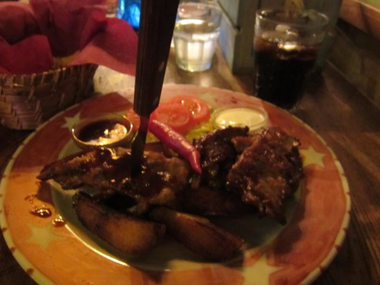 Texas Honky Tonk & Cantina: My portion : Grilled pork ribs