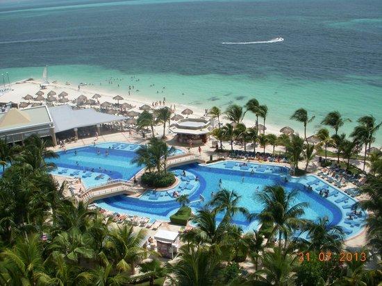 vista do caf picture of hotel riu caribe cancun. Black Bedroom Furniture Sets. Home Design Ideas