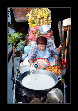 Damnoen Saduak Floating Market : Marché flottant