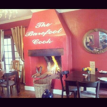 The Barefoot Cook: Cosy fireplace.