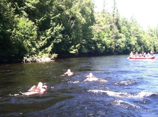 U.S. Rafting: A sunny beautiful day for a swim !!