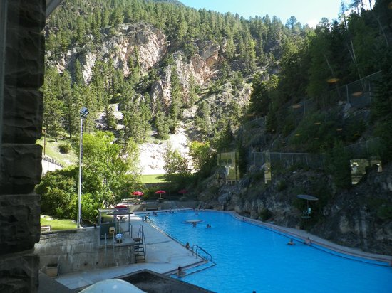 Radium Hot Springs: another  hot pool