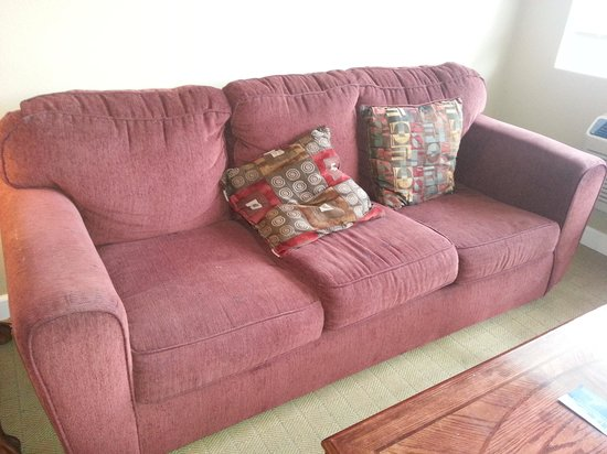 Foxborough Resort : horrible stained couch. very uncomfortable