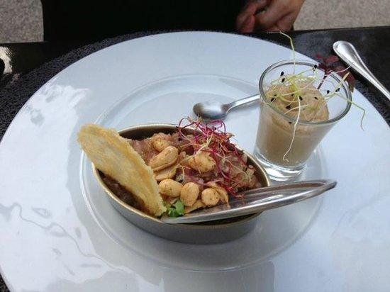 Restaurant Aux Caprices de Caroline : Carpaccio thon/saumon