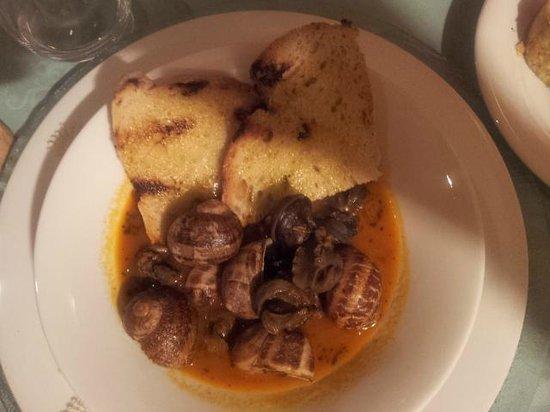 Osteria Il Canevaro: Lumache in guazzetto