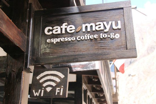 Cafe Mayu: They have Wifi if you buy coffee