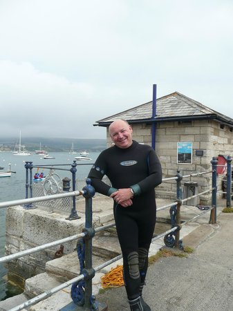 Swanage Diving: On Swanage Pier