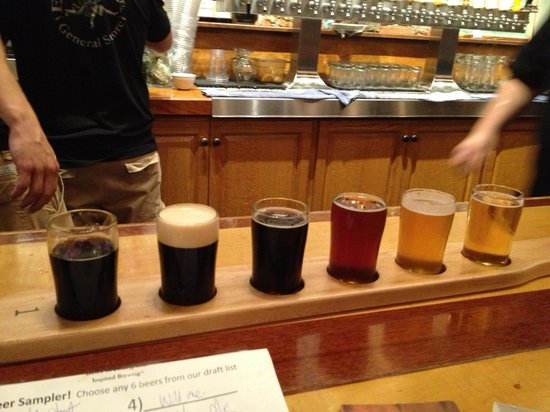 Bell's Eccentric Cafe: Beer flight