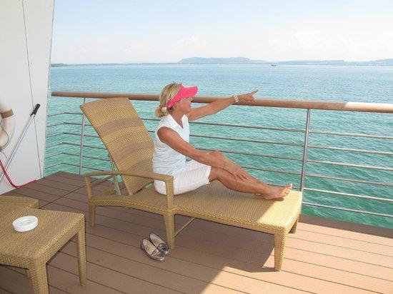 Hotel Palafitte : La terrasse : comme sur un bateau !