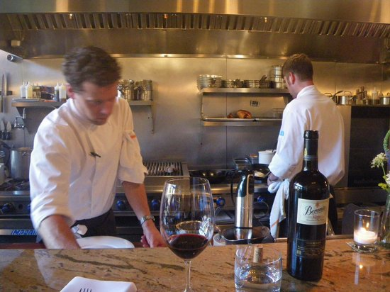 Altura Restaurant: At the counter.  Great group of chefs and staff.