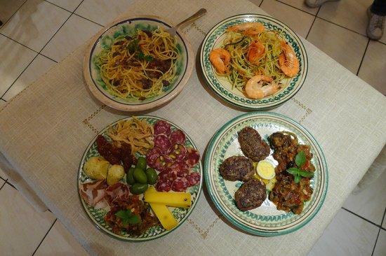Terra di Sicilia : Exemple de plats