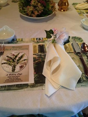 Blackberry Mountain Cafe : place setting