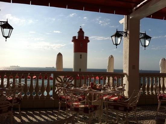 The Ocean Terrace: on the veranda at oyster box hotel