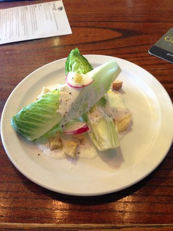 "Greenbush Brewing Co.: The ""wedge"" salad, with dill ranch and radishes. Great to balance the BBQ!"