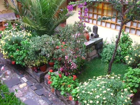 Amaru Hostal: Jardim do hotel