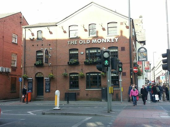 The Old Monkey: The Monkey side on, with the corridor staircase on the left.