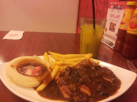 Bbq Chicken Singapore: Chicken steak with mushroom sauce