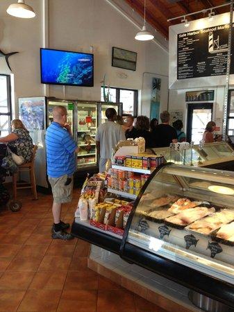 Menu picture of safe harbor seafood market restaurant for Harbor fish market