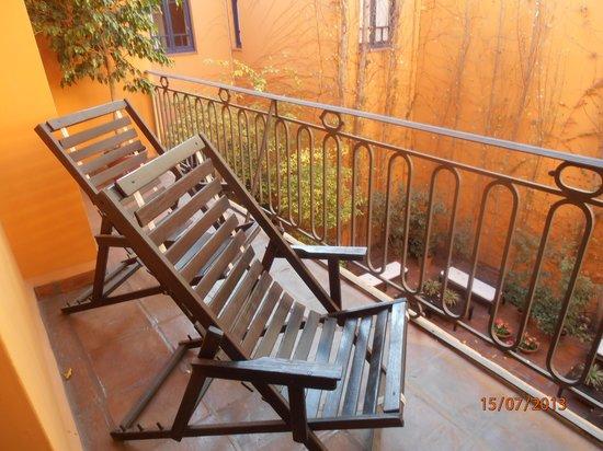Legado Mitico Salta: Balcón de la habitación El Gaucho