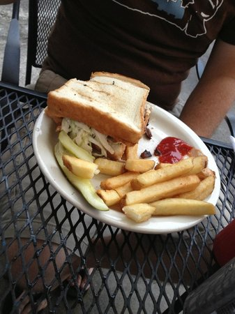 Brake Pad: Brisket Sandwhich with Fries