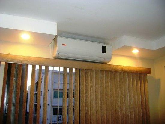 Hotel Centroamericano: Aire acondicionado necesario por el calor