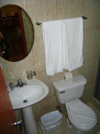 Hotel Centroamericano: Baño bastante limpio y comodo