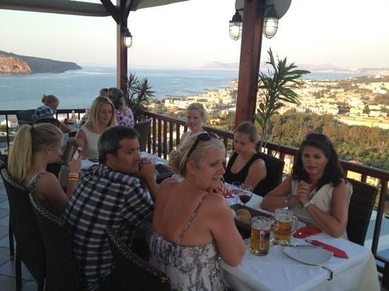Vigli Restaurant: På Vigli før solnedgang