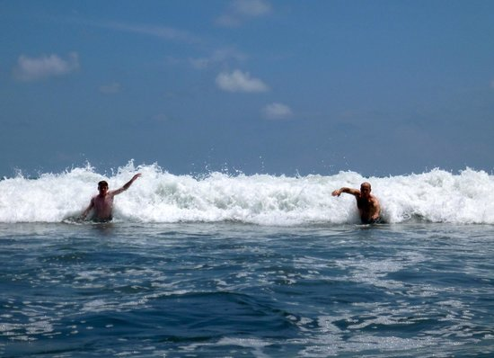 Bahia Encantada: our guys enjoying the surf