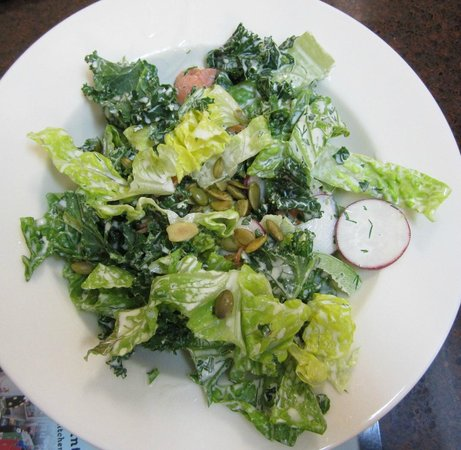 Kitchens on the Square: kale and lettuce salad