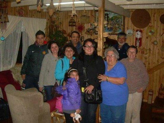 Casa Perla: turistas en la sala de estar