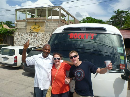 Rocky's Taxi and Tour Services: With Rocky in Front of Scotchie's