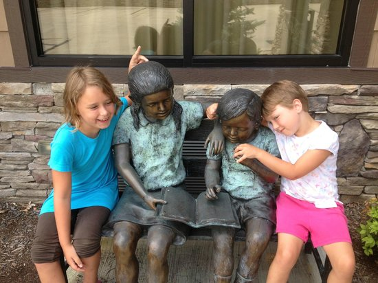 Brookstone Lodge : Our granddaughters and the permanent hotel guests...