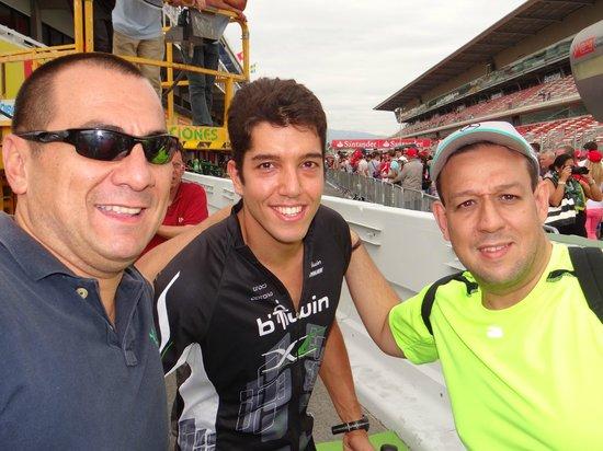 """Circuit de Barcelona-Catalunya: En el """"pit lane"""" con un volante venezolano"""