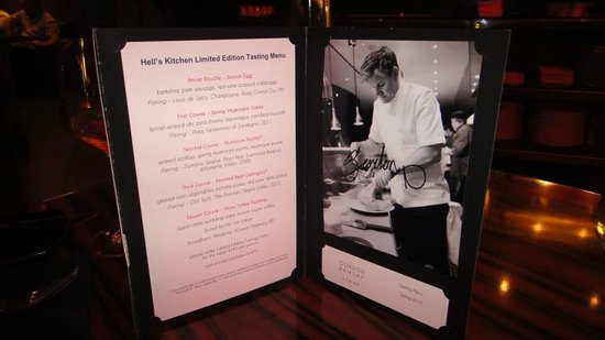 Hell S Kitchen Special Menu Picture Of Gordon Ramsay