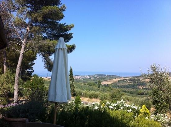 Relais Poggio Ai Santi: Sicht auf San Vincenzo
