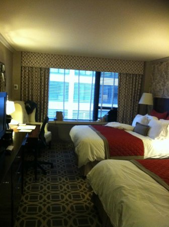 The Madison Washington DC, A Hilton Hotel: Double beds room view