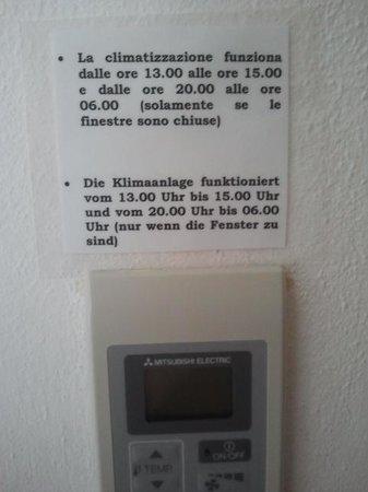 Hotel Umberto: gli orari dell'aria condizionata
