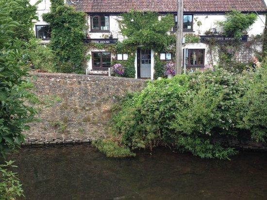 The White Horse Inn: view from garden