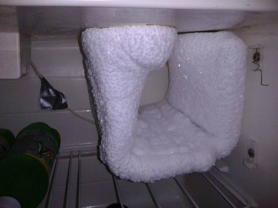 Quality Inn: Ice buildup in mini fridge