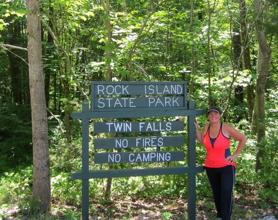 Rock Island State Park: Melissa In Front Of Sign