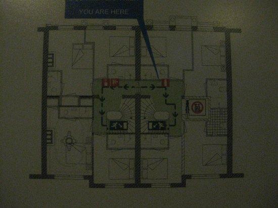 Hotel Vossius Vondelpark : Plano de planta