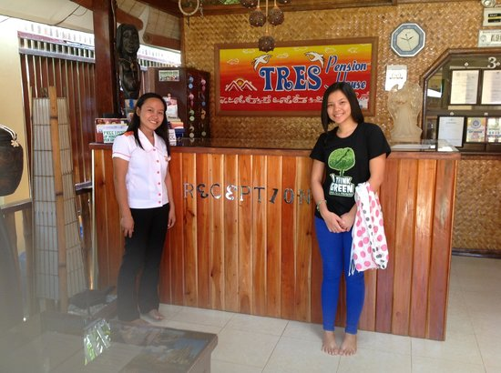 Tres Pension: a picture with one of the most accommodating staff in Tres P. .. Her name is Mel. :)